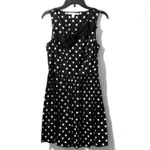 LC Black and White Polka Dot Dress knee length
